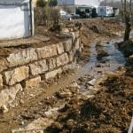 Kirchheim Jauchertbach Renaturierung Bauarbeiten - Schwergewichtsmauer - Beutke und Fraenzel Gewaesserbau