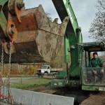 Sersheim Bau von Stelzbruecken ueber Muehlbach und Aischbach - Beutke und Fraenzel Gewaesserbau